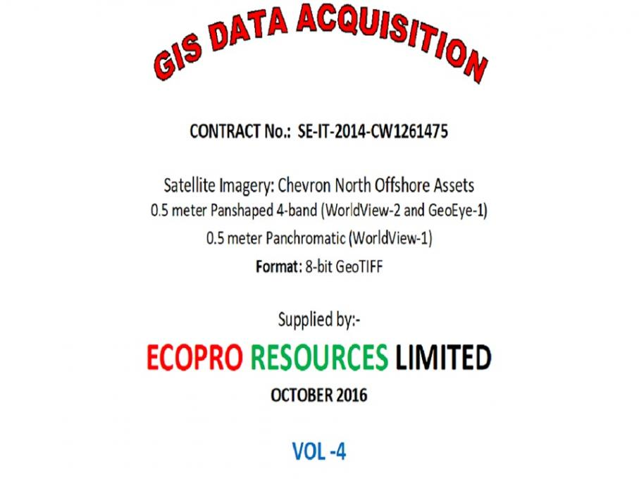 Provision of Satellite Imagery for Chevron North Offshore Assets