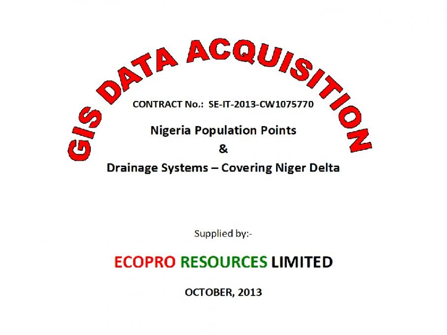 GIS Data on Niger Delta (Nigeria) Drainage Systems
