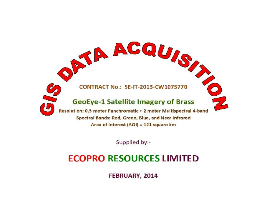 GIS Data Provision - Satellite Imagery